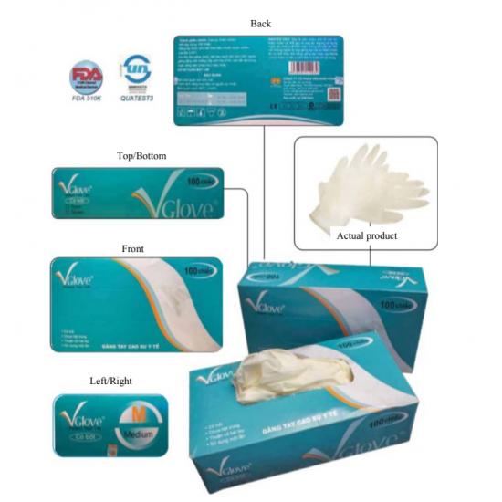 Powder Latex Examination Gloves